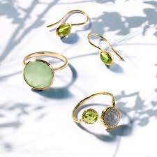 gem rings images Labradorite peridot open modern wrap aound ring gold plated silver jpg