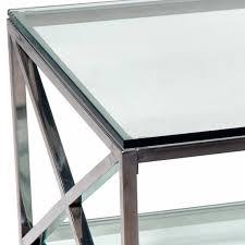 maison jansen vintage brass chrome glass coffee table 1970s tables