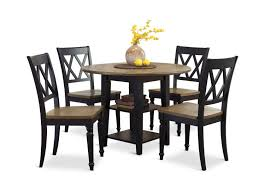 Al Fresco Black And Driftwood Drop Leaf Table And 4 Side Chairs
