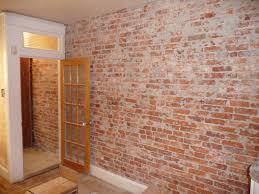 interior design astounding fake exposed brick wall design closet