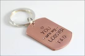 Personalized Dog Tags For Couples Custom Dog Tag Keychain Personalized Copper Key Chain You Are