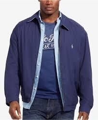 polo ralph lauren big tall jacket bi swing windbreaker in black