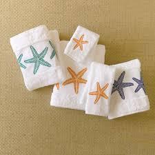 starfish towel embroidered starfish towels gump s