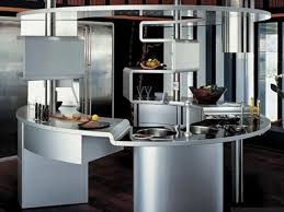 glass tile backsplash modern futuristic interior design kitchen