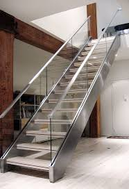 Stainless Steel Stairs Design Model Staircase Breathtaking Stringer Beam Staircase Design Image