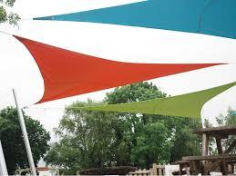 Orange Patio Umbrella by Luxury Umbrellas Ingenua 13 Foot Triangular Anodized Aluminum