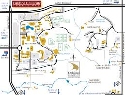 Oakland Map Oakland University Map Rochester Hills Michigan U2022 Mappery