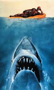 Shark Attack Meme - deadpool shark attack blank template imgflip