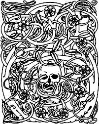 Halloween Coloring Pages Adults Halloween Skeleton And Bramble Halloween Coloring Pages For