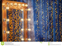 Dressing Room Mirror Lights Makeup Place In Dressing Room With Mirror And Light Bulbs Stock