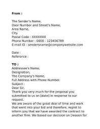 Business Letter Template With Subject Line 7 Business Proposal Rejection Letters Free Premium Templates