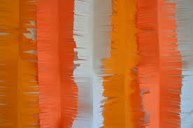 halloween back drop orange crepe paper halloween fringed backdrop from scratch with