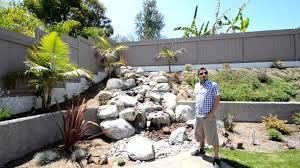 san diego backyard waterfalls by california smartscape youtube