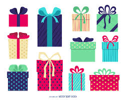 isolated gift box illustration vector download