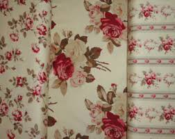 Shabby Chic Upholstery Fabric by Cabbage Rose Pillow Etsy