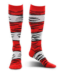 Cat In The Hat Costume Amazon Com Dr Seuss Cat In The Hat Kids Costume Socks By Elope