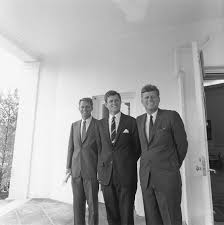 the three kennedy brothers pose outside the oval office merely 25