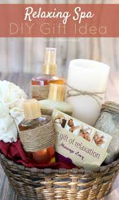 basket gift ideas diy relaxing spa gift idea