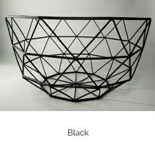 metal fruit basket set of 2 free shipping geometric wire metal fruit basket bowl