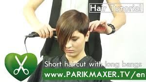 short haircut with long bangs parikmaxer tv english version youtube