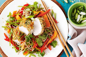 Noodle Salad Recipes Miso Crusted Chicken With Soba Noodle Salad
