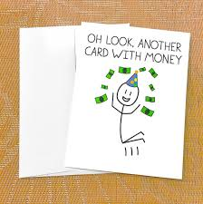 money cards birthday card for money card oh look