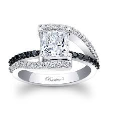 black and white engagement rings for princess cut engagement rings designed by barkev s