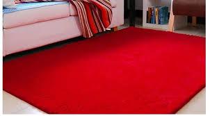 Red Carpet Rug Japanese Style Carpet 120 160cm Washable Ultra Flexible Filaments