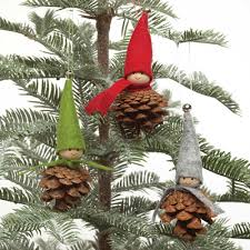 hemslojd swedish gifts pinecone tomte ornaments