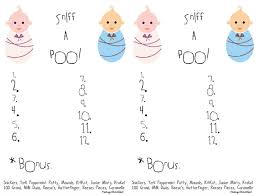 dirty diaper baby shower game answer sheet image information
