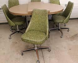 chromcraft table and chairs mid century modern chromcraft green vinyl chrome dining set 6 chairs