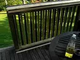 easy sliding gate for your deck youtube house ideas