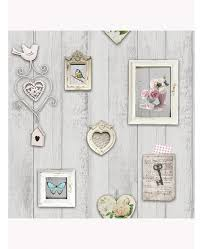 a beautiful shabby chic themed wallpaper the design features