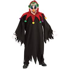 Scary Halloween Clown Costumes Halloween Mens Fancy Dress Costume Zombie Scary