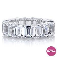 emerald cut wedding band emerald cut eternity band cz ring beautifully