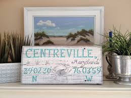distressed home decor centreville maryland custom hand painted driftwood sign rustic
