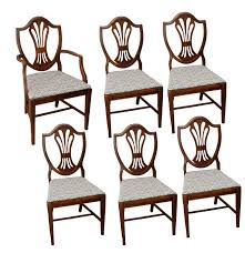 Vintage Dining Room Chairs by Vintage Hepplewhite Style Shield Dining Room Chairs Ebth