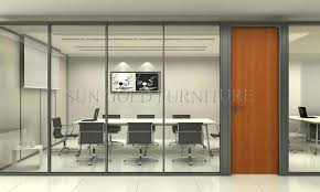 modern floor to ceiling office wood divider wall partition sz