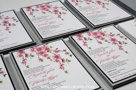 cherry blossom wedding invitations wedding blossoms cherry blossom wedding invitations pink silver