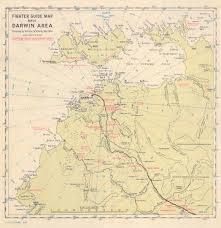 Post Ww2 Map Military Airfields In Australia And The Western Pacific Area