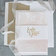 blush and gold wedding invitations luxe blush gold wedding invitation suite lilah