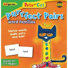 pete the cat halloween amazon com edupress matching game teaching material ep63532