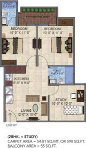 Sq 51 by 640 Sq Ft 3 Bhk 3t Apartment For Sale In Gls Avenue 51 Sector 92