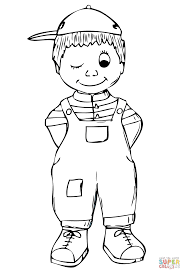 boy coloring page free printable coloring pages
