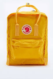fjallraven kanken classic warm yellow backpack in yellow lyst