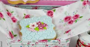 bubble and sweet how to make pretty shabby chic cookies