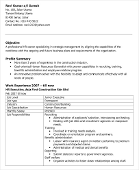 Construction Executive Resume Samples by Free Executive Resume Templates 35 Free Word Pdf Documents