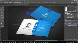 clean modern business card adobe photoshop professional business