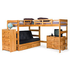 Bunk Beds L Shaped Chelsea Home 366200 L Shaped Loft Bed With Optional Underbed