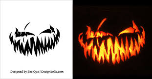 10 free scary halloween pumpkin carving patterns stencils